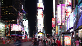 New york city - september 16: times square broadway famous street as symbol of united states. September 16, 2014 in manhattan, new. York city stock video footage