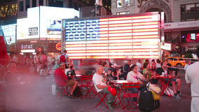 New york city - september 16: times square broadway theaters and advertising leds. september 16, 2014 in manhattan, new york city stock video
