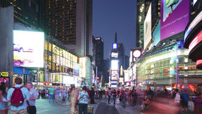 New york city - september 16: times square broadway with traffic and commercials. September 16, 2014 in manhattan, new york city stock video