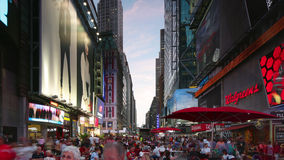 New york city - september 16: times square with traffic and commercials broadway direction. September 16, 2014 in manhattan, new y stock video footage