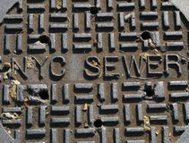 New York City Sewer Cover royalty free stock image
