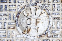 New York City Sewer Royalty Free Stock Image