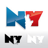 New York City sign. Vector illustration of New York City sign Stock Photography