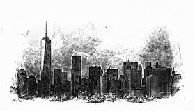 New York City Sketch stock image