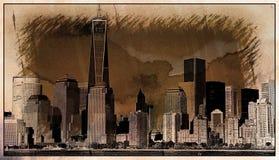 New York City Sketch Stock Photos
