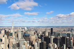 New York City sky view stock photos