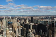 New York City sky view stock photography