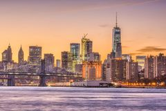 New York City Skyilne Stock Images