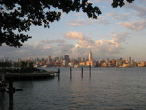 New York City skyline. In the afternoon sun, view from Hoboken Royalty Free Stock Images