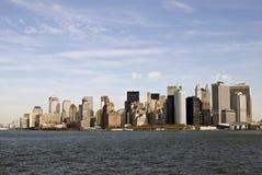 New York City skyline. Aerial View of New York City Skyline Royalty Free Stock Image