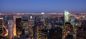 New York City skyline. Just after sunset Stock Photo