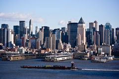 New York City Skyline. New York is the most populous city in the United States, and the center of the New York metropolitan area, which is one of the most Royalty Free Stock Photography