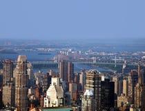 New York City skyline. Panoramic view of New York City Skyline on a hazy summer day Stock Photo