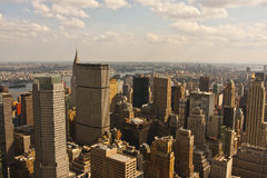 New York City skyline. Details of New York City Royalty Free Stock Photo
