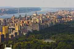 New York City skyline. A view of Central Park in New York City Stock Photography