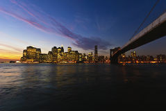 New York City Skyline. From Brooklyn Royalty Free Stock Images