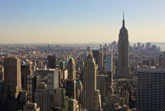 New York City skyline. The Skyline of New York City, New York, USA Royalty Free Stock Photo