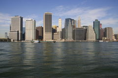 New York City Skyline. A view of New York City from the Hudson River Stock Photos