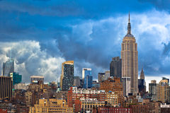New York City Skyline. On cloudy day. View of Empire State building and Chrysler building Stock Photography