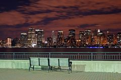 The New York City skyline Stock Photography