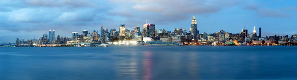 New York City Skyline. Panoramic stock photos
