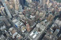 New york city skyline. With the skyscrapers and central park. View from Empire state building Stock Photos
