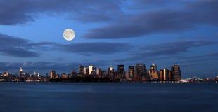 The New York City skyline Stock Photography