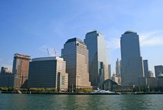 The New York City skyline Stock Images