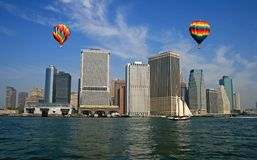The New York City skyline Stock Image