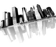 New york city skyline royalty free illustration