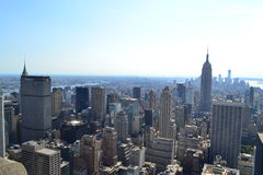 New York City Skyline Aerial Royalty Free Stock Photo
