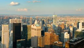 New York City skyline Aerial panorama Royalty Free Stock Photography