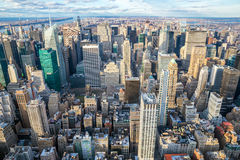 New York City skyline aerial Stock Photos