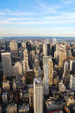New York City skyline aerial view Royalty Free Stock Image