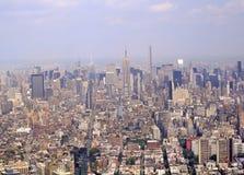 New York City skyline, aerial view, Manhattan Stock Photo