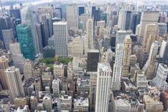 New York City skyline, aerial view, manhattan, USA Stock Images