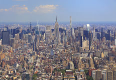 New York City skyline, aerial view. USA royalty free stock photography