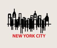 New York City Skyline, sign and ssymbol design. New York City Skyline, art vector design royalty free illustration