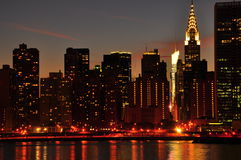 Free New York City Skyline At Night Royalty Free Stock Images - 16308949