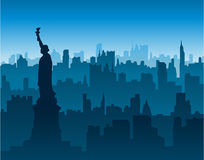 New York City skyline background Stock Image