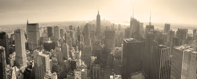 New York City skyline black and white Stock Photography