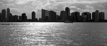 New York City skyline in black and white Royalty Free Stock Photography