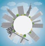 New York city skyline royalty free illustration