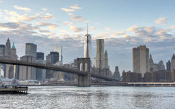 New York City Skyline from Brooklyn Royalty Free Stock Photos