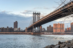 New York City Skyline from Brooklyn Stock Image