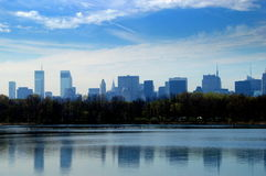 NEW YORK CITY: Skyline from Central Park Royalty Free Stock Photography