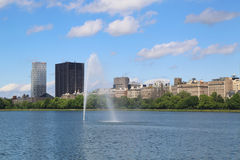 New York City skyline from Central Park Royalty Free Stock Photography