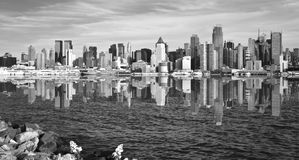 New york city skyline cityscape over hudson river Stock Image