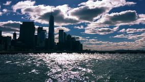 New York City Skyline Cloud Timelapse