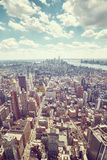 New York City skyline, color toning applied. Royalty Free Stock Photos